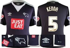 *15 / 16 - UMBRO ; DERBY COUNTY AWAY SHIRT SS + PATCHES / KENNA 5 = SIZE*