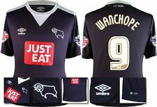 *15 / 16 - UMBRO ; DERBY COUNTY AWAY SHIRT SS + PATCHES / WANCHOPE 9 = SIZE*