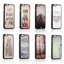 Love Travel Life Quote Back Hard Cover Skin Case For Apple iPhone 6s / 6s Plus