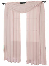 Single Mauve Abri Rod Pocket Contemporary Crushed Sheer Window Curtain Panel