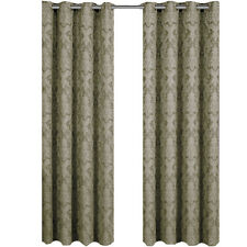 "Set of Two Jacquard Grommet-Top Curtains, Blair Polyester Panel (108x63"" , Sage)"