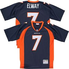 John Elway MITCHELL & NESS 1998 Denver Broncos Home Navy Throwback Jersey Men's