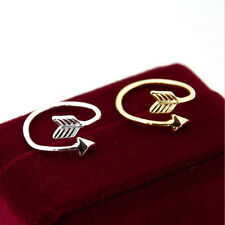 1/5 PCS Women Girl Gold Silver Fashion Adjustable Arrow Open Knuckle Rings Gift
