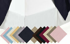 100% Cotton 300 TC Super Soft Solid Bed Skirt, Twin-XL Split-Corners Bed Skirts