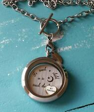 S/Steel Floating Charm Living Locket Teacher Thank You Gift Sets B/L or Necklace