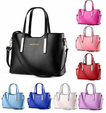 Fashion Women PU Leather Tote Shoulder Messenger Ladies Handbag Hobo Bag Purse