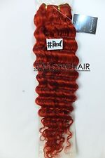 100g 150g 16''~26''Salons Virgin Curly/Deep Wavy Weft Human Hair Extensions #Red