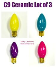 NEW C9 Traditional INCANDESCENT Light BULB Christmas Yellow Teal Purple Pink WOW