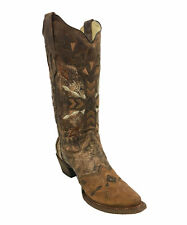 Corral Women's Brown & Cognac Embroidery Boots A3045