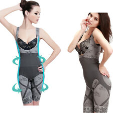 Lady Women Natural Bamboo Charcoal Body Shaper Underwear Slimming Suit Bodysuits