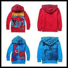 Kids Baby Boys Clothes Tops Jacket Spiderman Hoodies Coat Child New Outerwear