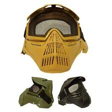 Tactical Airsoft Pro Full Face Mask with Safety Metal Mesh Goggles Protection