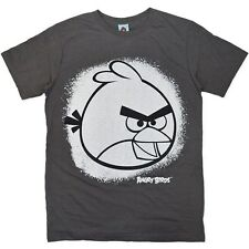 Men's Licensed Angry Birds, T-Shirt, Grey, Sizes: S, M, L & XL BNWT
