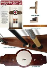 Choose Your Stain Finish 2PC Indian Motorcycle Wood & Mirror Billiard Cue Rack
