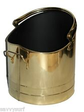 Traditional Brass Coal Bucket Coal Hod Log Holder Fireside Accessories ALL SIZES