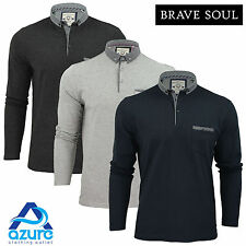 Mens Long Sleeved Top by Brave Soul 'Hera' Denim Colour Collared Casual S-XL