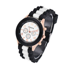 Colorful Women Men Unisex Geneva Silicone Jelly Gel Quartz Analog Sports Watches