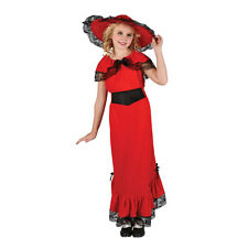 Girls Victorian Lady Costume for Fancy Dress Childrens Kids Childs