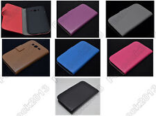 Multi Leather Cover Flip Case HOLDER WALLET For Samsung Galaxy Grand Duos I9082