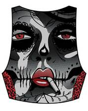 Too Fast Live Fast Madison Vest Rockabilly Punk Tattoo Moto Day of Dead Goth Emo