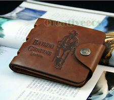 Vintage Men's PU Leather Bifold Wallet Credit/ID Card Holder Cash Coin Purse New