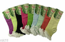 6 Pairs Of Ladies Bamboo Lace Socks, Super Soft Extra Fine Fashion Socks