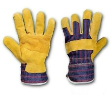 RIGGER LEATHER WORK GLOVES HEAVY DUTY SAFETY GAUNTLETS 1, 3, 6, 12  PAIRS