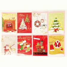 Happy Merry Christmas gliding shining gift cards greeting cards for new year