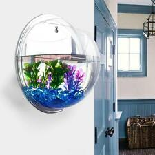 Wall-mounted Hanging Fish Tank Bubble Aquarium Bowl Modern Home Decoration W0OB