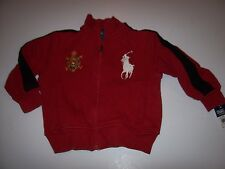 New Polo Ralph Lauren zip front hoodie jacket sweatshirt boys big pony SPAIN 2T