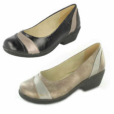 Eaze for Comfort F9435 Ladies Shoes Bronze/Pewter or Black/Pewter UK 3 - 8 (R5A)