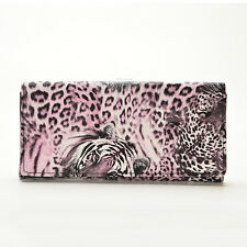 Women Tiger Leopard Print Wallet Purse Clutch Bag Card Holder Long Handbag SF6