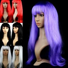 Womens Girls Lady Long Straight Hair Wigs Hair Cosplay Party Wigs Long Bangs M85