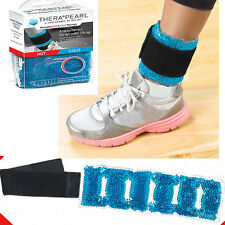 Therapearl Hot Cold Therapy Ankle Wrap Strap Gel Bead Aid Injury Pain Sprain