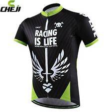 CHEJI Racing Men's Bike Clothing Jersey MTB Cycling Jacket Short Sleeve Shirt