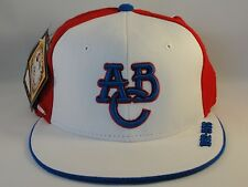 Atlanta Black Crackers Negro League Headgear Fitted Cap Hat White Red