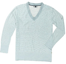 TOMMY HILFIGER WOMENS V-NECK TUNIC PULLOVER SWEATER