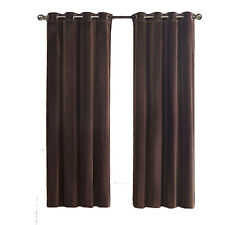 Velvet Set of two Chocolate Grommet Panels, 2PC Room Darkening Window Curtains