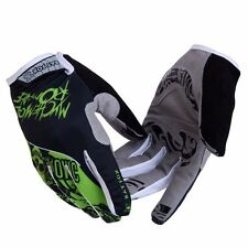Green Full Finger Cycling Gloves MTB Bike Bicycle 3D Gel Pad Gloves Shockproof