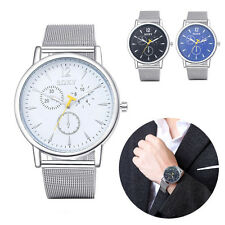 Fashion Business Sports Men's Watch Stainless Steel Analog Quartz Wrist Watches