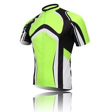 Men's Cycling Jerseys T-shirt Green Short Sleeve Bike Clothing Bicycle Jerseys