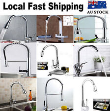 Square Kitchen Bathroom Sink Basin LED Waterfall Swivel Faucet Mixer Tap AU Ship