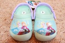 toddlers frozen plastic clogs beach shoes summer shoes holiday shoes anna & elsa