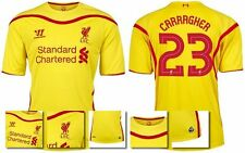 *14 / 15 - LIVERPOOL AWAY EURO & DOMESTIC SHIRT SS / CARRAGHER 23 = SIZE*