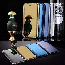 Smart View Flip View Mirror Clear leather Case Cover for iPhone 6 6S Samsung S6