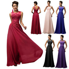 SALE Long Maxi Evening Cocktail Party Applique Gown Formal Bridesmaid Prom Dress
