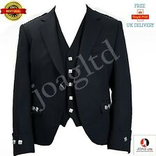 """Argyle jacket and vest Black color Wool Polyester size 38"""" to 50""""/"""