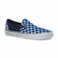 Vans CLASSIC SLIP-ON Mens Skate Shoes (NEW) Size 7-13 BLUE Checkerboard CHECKERS