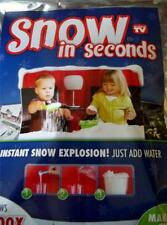 Instant Snow in Seconds Makes 3 Gallons Just Add Water Looks Real~