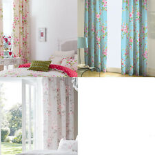 Catherine Lansfield Canterbury Floral Pencil Pleat Lined Curtains, 66 x 72 Inch